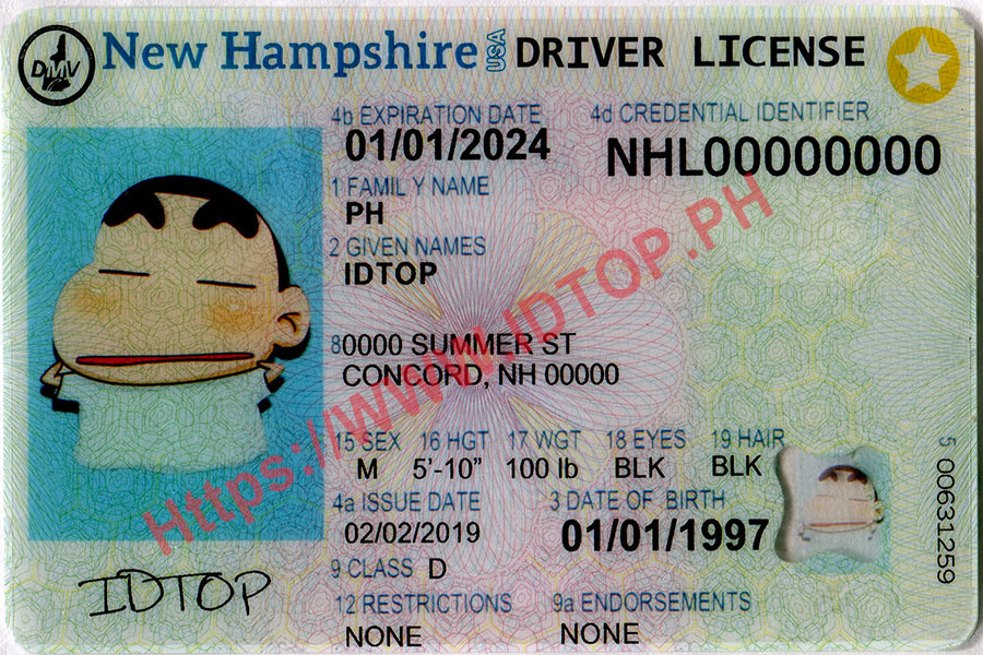 NEW HAMPSHIRE(fake id)